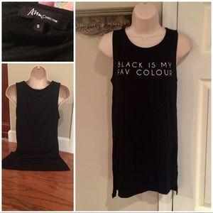 Tops - Black is my fav colour sleeveless tank/tunic
